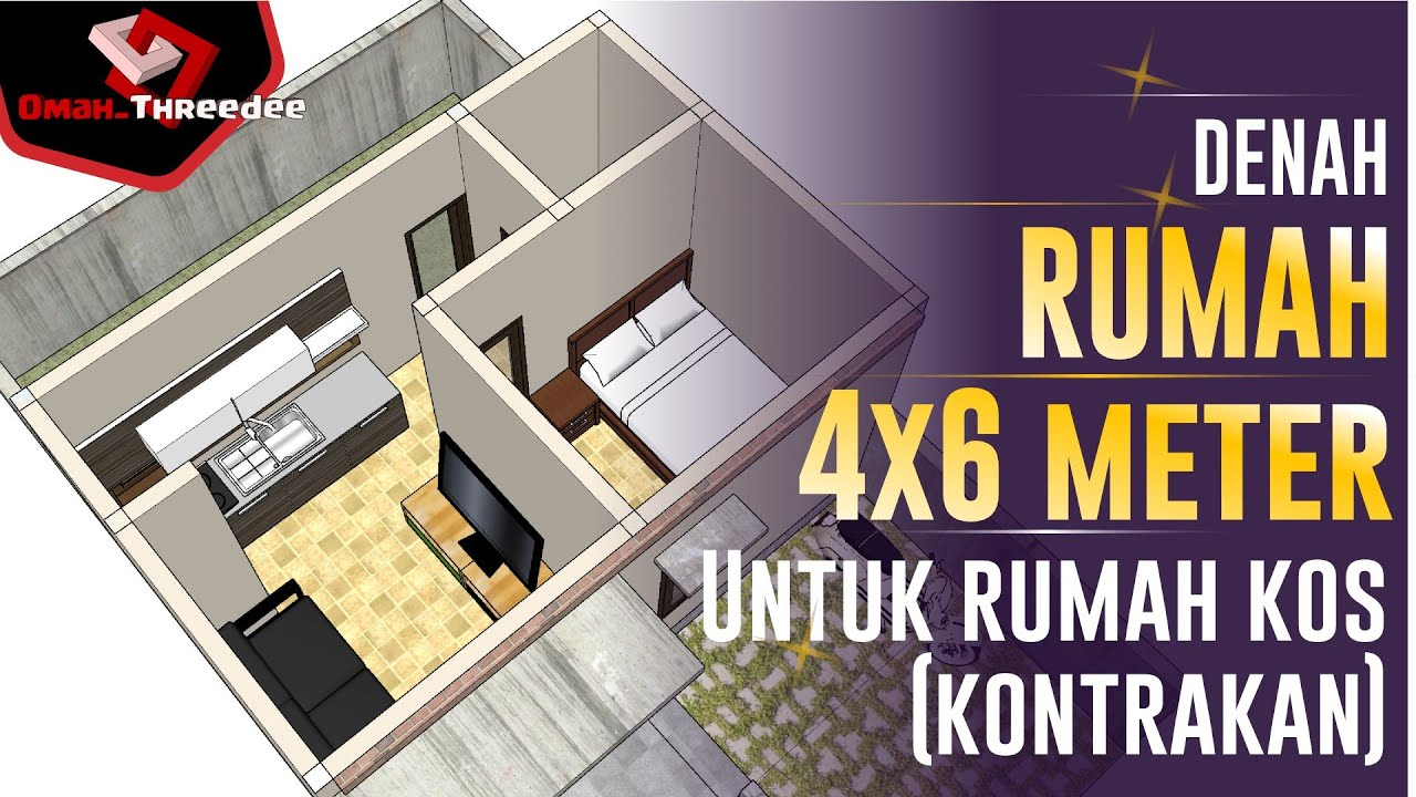 Desain Rumah 4x6 Meter Cocok Untuk Rumah Kos Atau Kontrakan Youtube