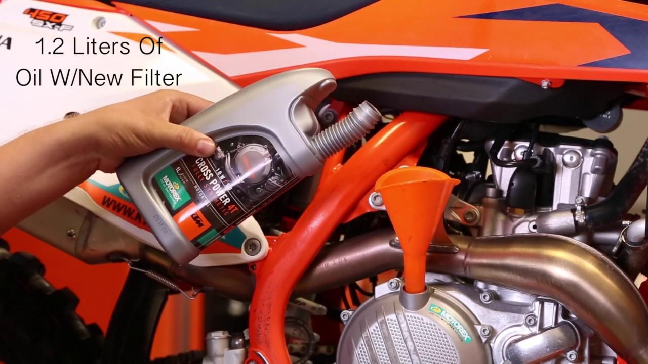 ktm four stroke oil change cycle news [ 1280 x 720 Pixel ]