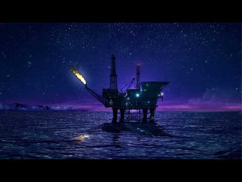 ❄ Arctic Ocean White Noise Ambience With Oil Platform Creati