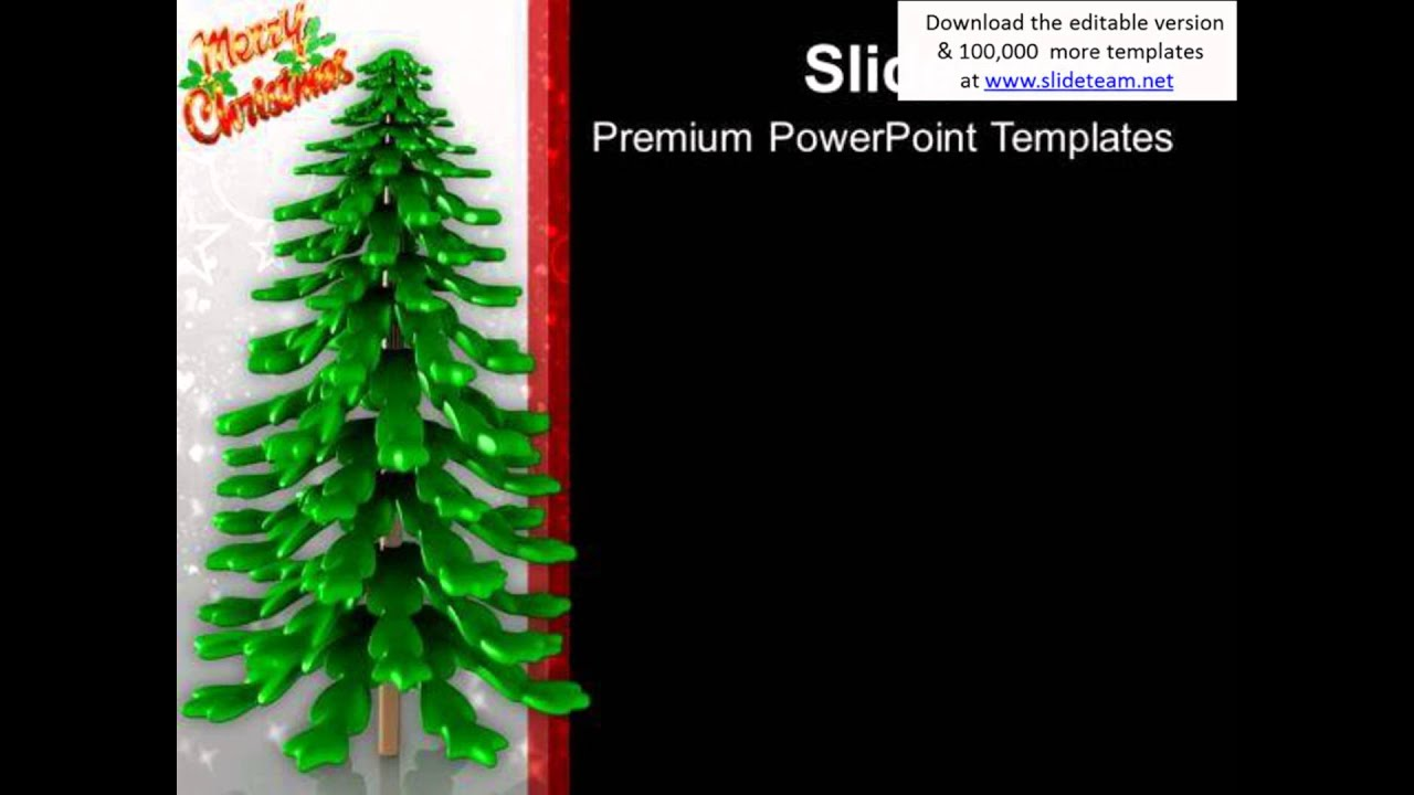 Christmas Tree Celebration Powerpoint Templates Ppt Backgrounds For