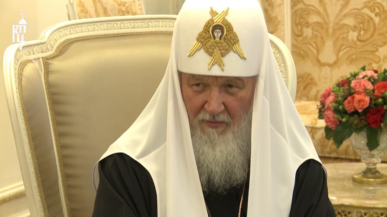 Патриарх Кирилл встретился с Президентом Приднестровской Молдавской Республики В.Н. Красносельским