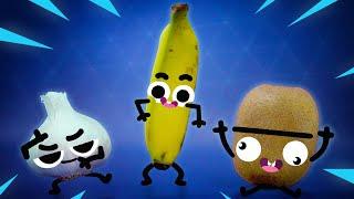 FORTNITE DANCES CHALLENGE! 🍌🥝 | Cute Food Doodles Compilation #26
