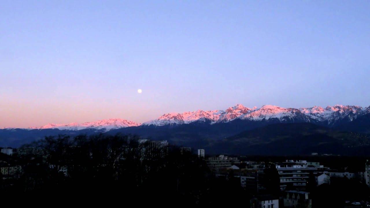 Coucher de soleil et lever de pleine lune du 21 f vrier - Lever et coucher du soleil est ouest ...