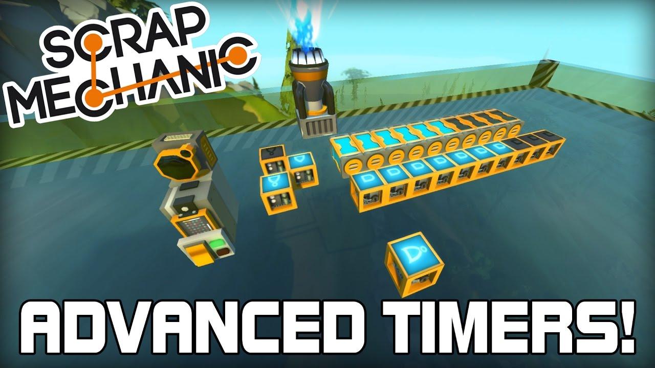 Advanced Timers And Scanner Logic Tutorial Scrap Mechanic 133 Gates Diagram Engine Schematic