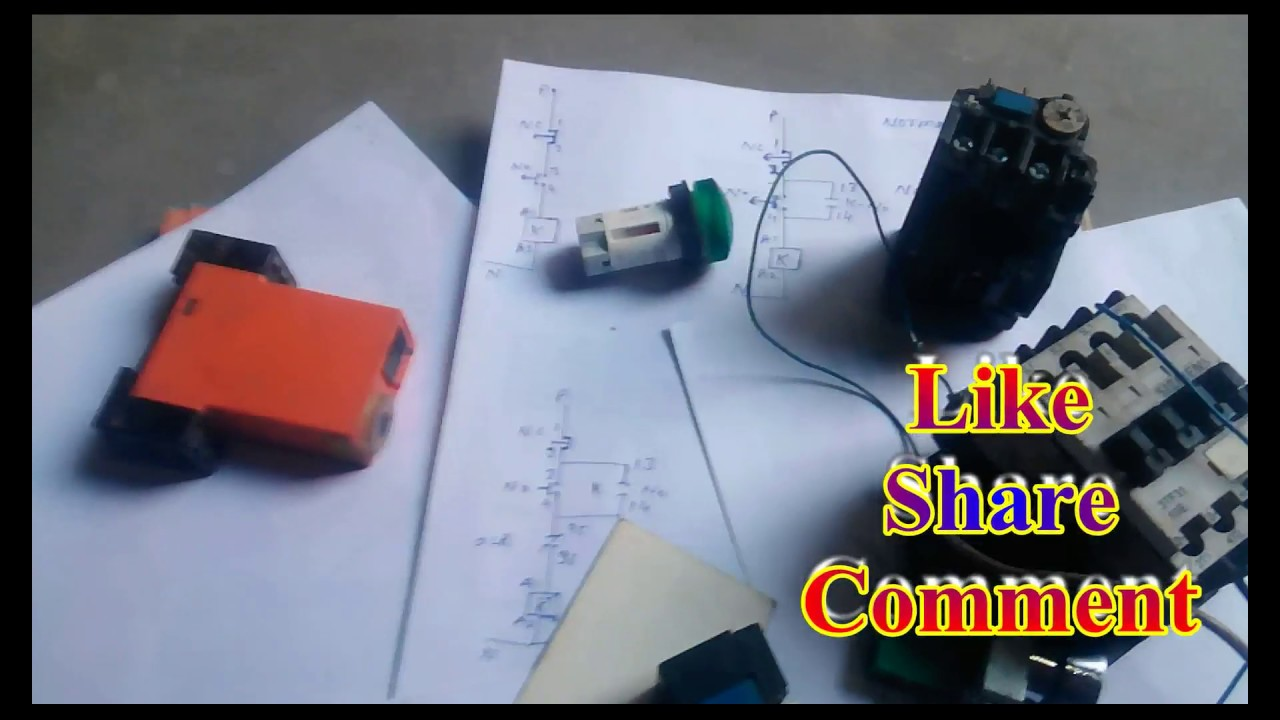 How To Contactor With Timer Wiring Diagram   Timer With