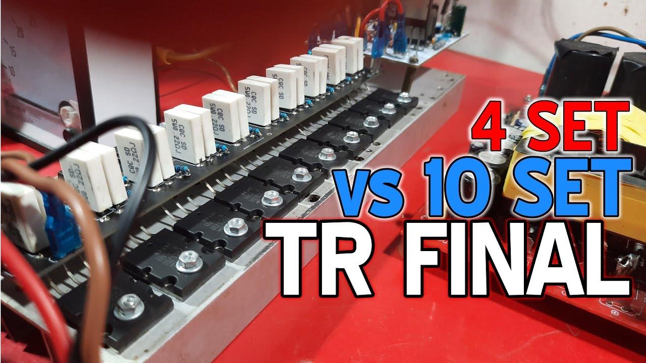 Download Pengujian Driver Amplifier Pakai 4 Set Final vs 10 Set TR Final