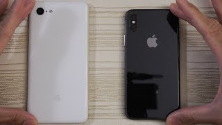 Google Pixel 3 XL vs iPhone X - Speed Test!
