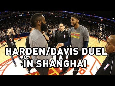 James Harden and Anthony Davis Clash in Shanghai