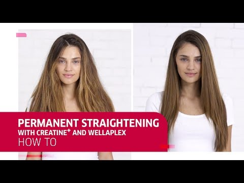 How To | Permanent Straightening with Creatine+ Straight and Wellaplex | Wella Professionals