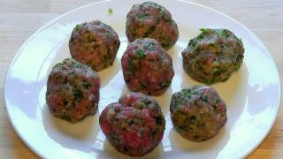 Meatballs Lamb Mince With Chilli Green Pepper Recipe How To Make Rissoles Food
