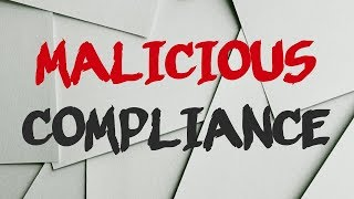 r/MaliciousCompliance | fresh