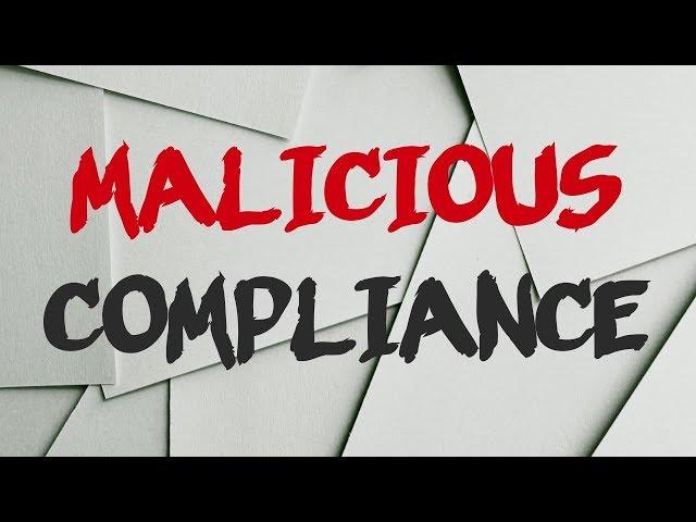 r/MaliciousCompliance | fresh