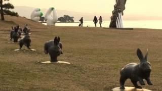 宍道湖夕景 於・岸公園 (16-Feb-2011) SHINJIKO Sunset