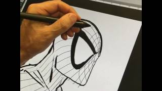 Live Drawing of Spider-Man