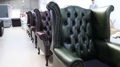 Chesterfield Queen Anne Armchair Classic Antique Genuine Leather Bristish Made
