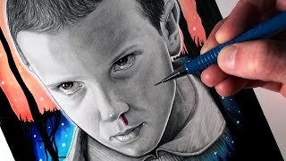 Let's Draw ELEVEN from STRANGER THINGS - FAN ART FRIDAY thumbnail