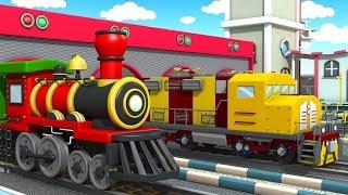 The Train Goes Choo Choo | Nursery Rhyme Song | Freight Train Passenger Train Steam Train Mine Train