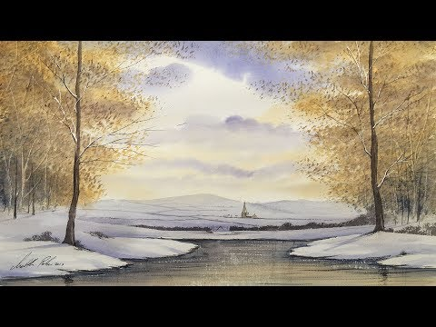 Paint A Snowy Woodland & Village in Watercolours - Art Demo with Matthew Palmer