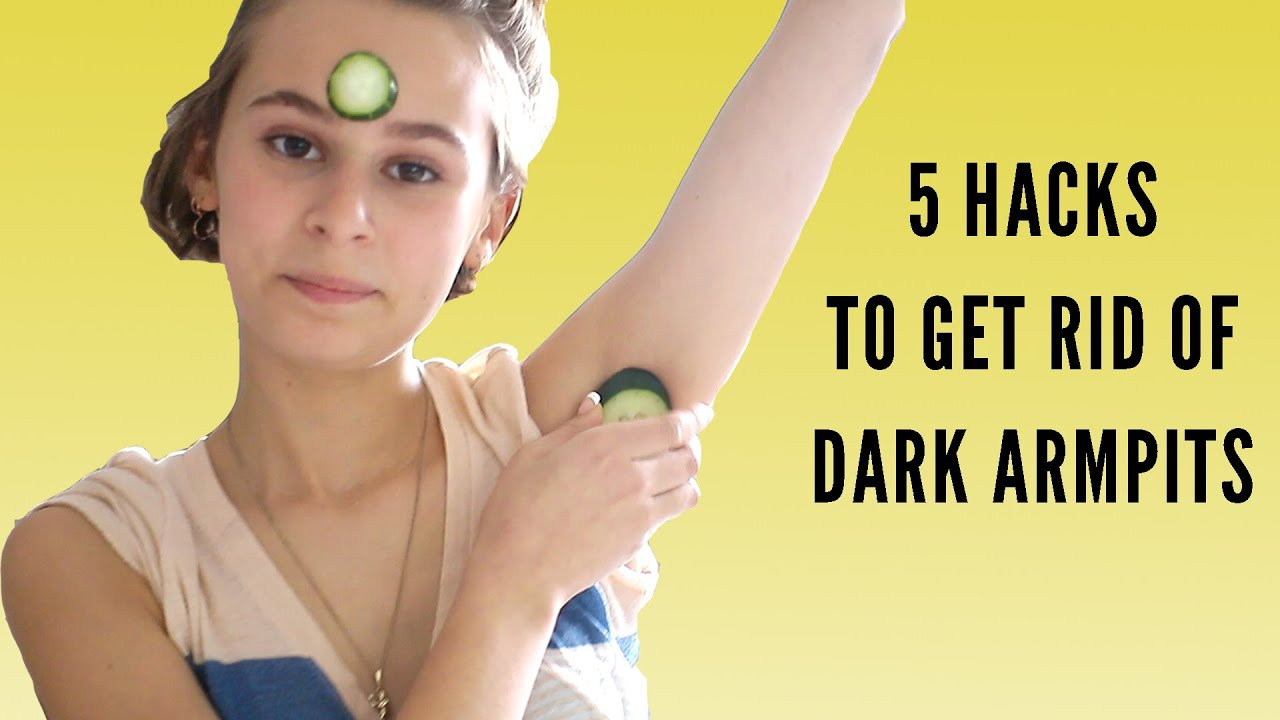 how to get white armpits
