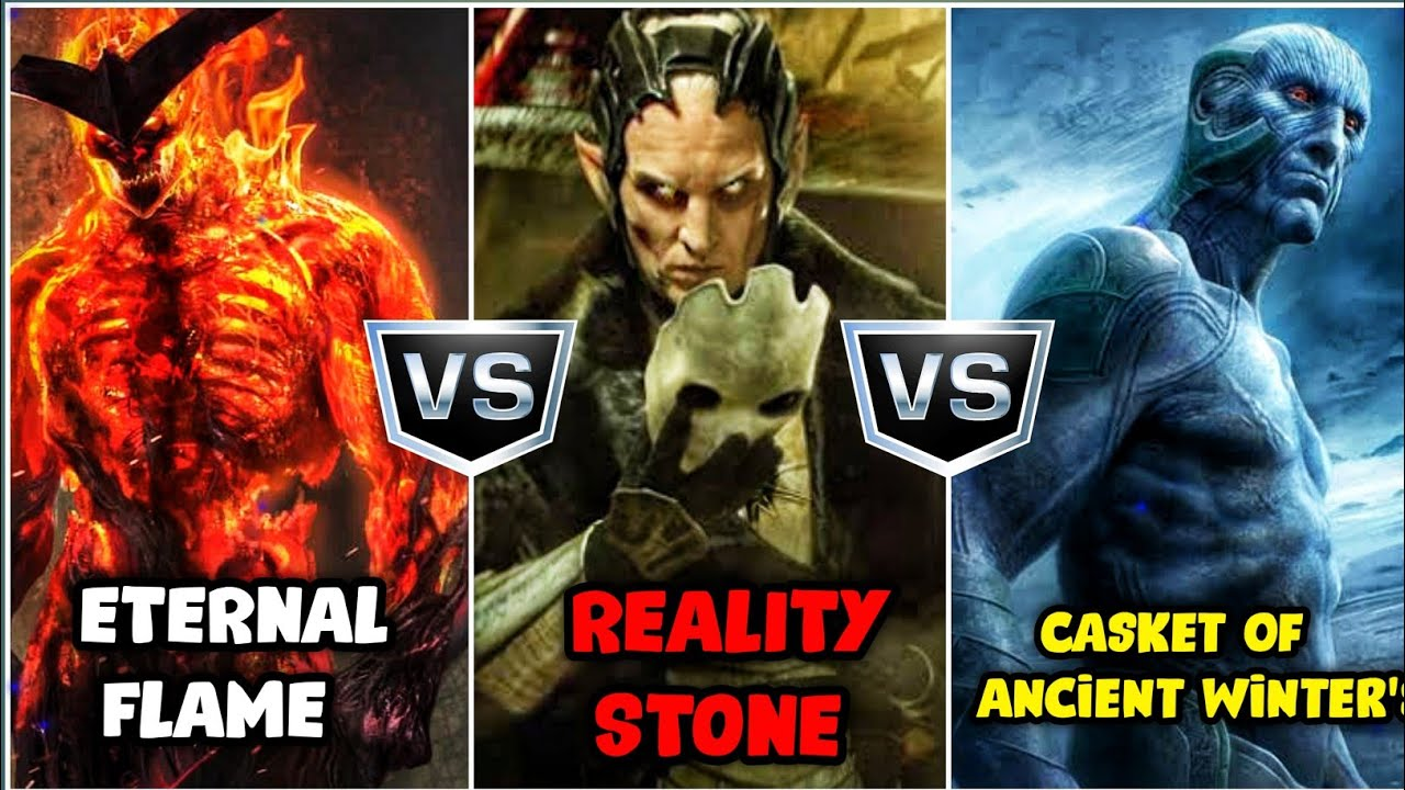 Eternal Flame Surtur vs Frost Gaint Casket of Ancient Winter's vs Malekith with Aether (SUPERBATTLE)