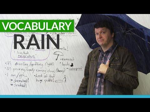 English Vocabulary: Talking about RAIN