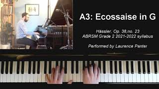 A:3 Ecossaise in G (ABRSM Grade 2 piano 2021-2022)