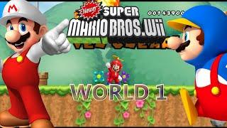 Newer Super Mario Bros Wii - World 1 Yoshi Island
