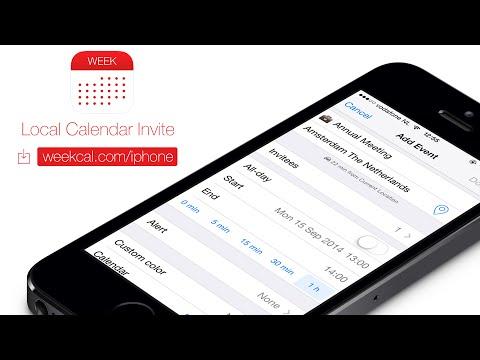 Week Calendar: Local Calendar Invite (iPhone & iPad)
