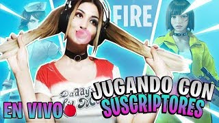 LLEGA NUEVA ACTUALIZACION A FREE FIRE!! JUGANDO CON SUSCRIPTORES SQUADS EN DIRECTO