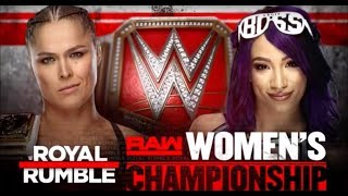 WWE Royal Rumble 2019: Sasha Banks v Ronda Rousey - Raw Women's Championship Match (2k19 Prediction)