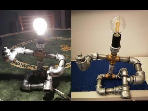 Steampunk Pipe Lamp Diy