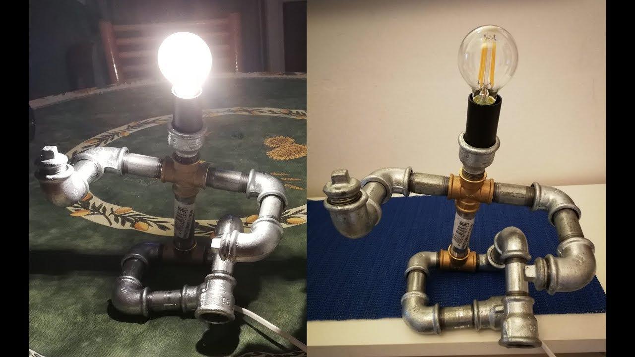 Pipe Lamp Lampada Con I Tubi Idraulici Diy Youtube