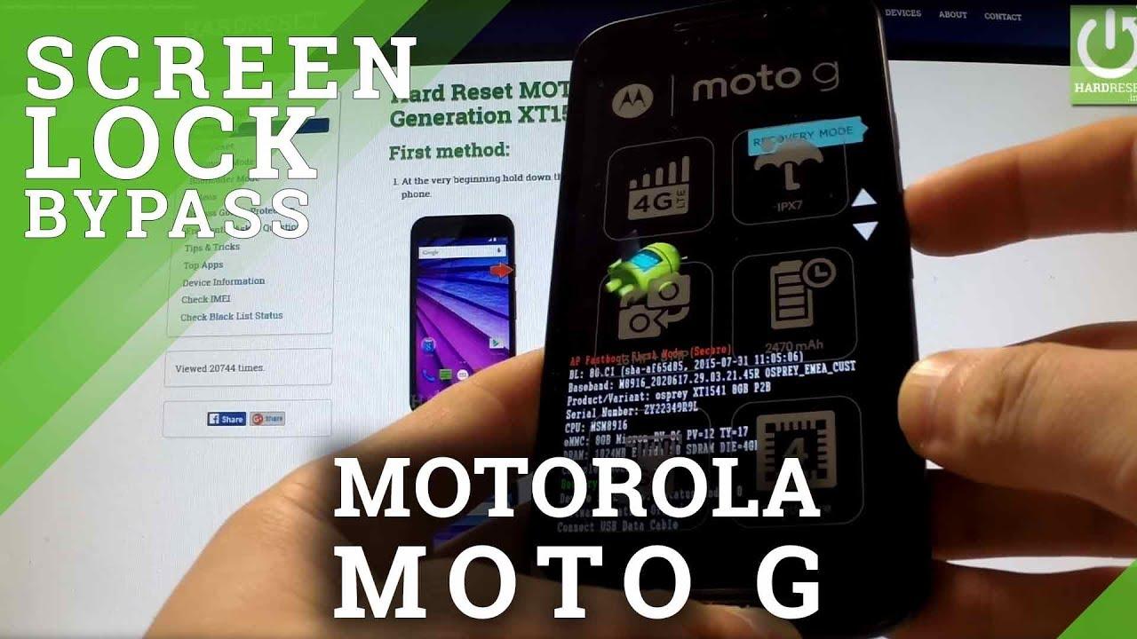 Hard Reset MOTOROLA Moto G 3rd Generation XT1540 - bypass Password  Protection