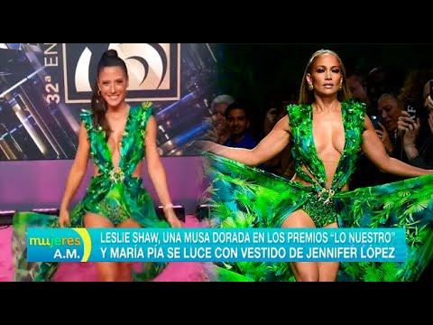 María Pía Se Luce Con Vestido De Jennifer López En Los 'Premios Lo Nuestro'
