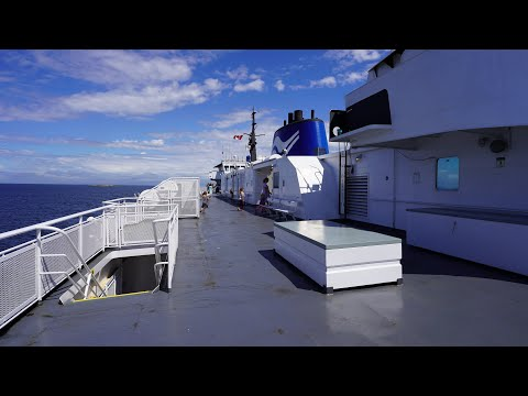 Vancouver To Nanaimo | BC Ferries Queen Of Alberni - Virtual Tour In 4K (UHD)
