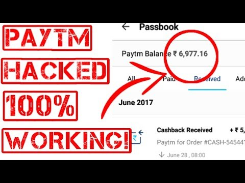 PayTm Wallet New Hack Tricks Of 2017 With 100% Working [Must Watch]