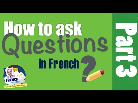 Asking yes no questions in French