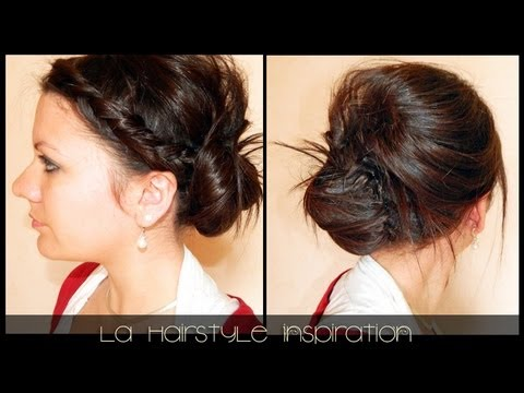 chignon pour mariage l a hairstyle inspiration youtube. Black Bedroom Furniture Sets. Home Design Ideas