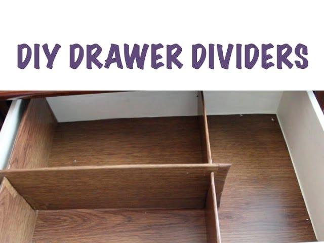 Cheap Organizing Diy Drawer Dividers Youtube