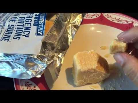 Mainstay 3600 calorie emergency food ration bar taste test