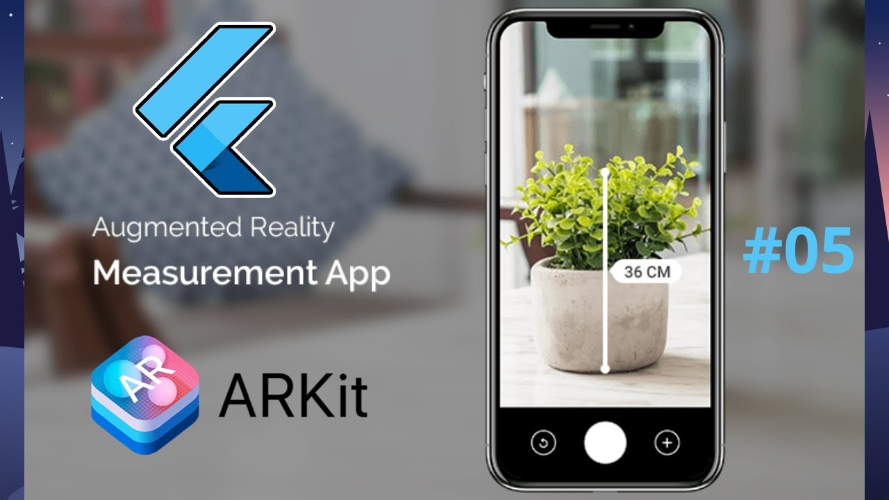 Augmented Reality in Flutter 2.0 - AR Distance Tracker App Tutorial 05 - iOS ArKit Developer Course