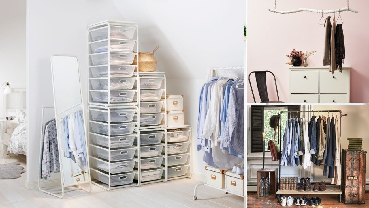10 Storage Ideas For Bedrooms Without Closet Youtube
