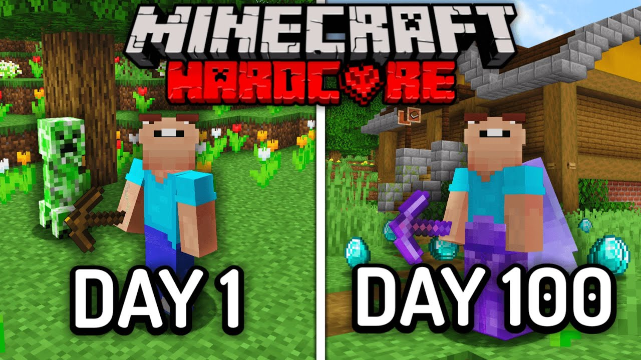 Download I Survived 100 Days in Hardcore Minecraft... Here's What Happened