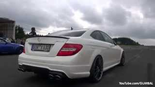 MASSIVE BURNOUT 600HP Wimmer Performance Mercedes C63 AMG Coupe!