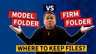 Tekla Tip 01 -  Template Model VS Firm Folder