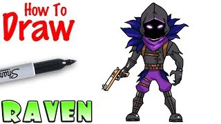 How to Draw Raven | Fortnite