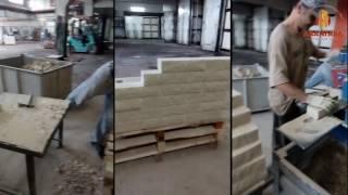 видео Особенности производства керамического цветного кирпича