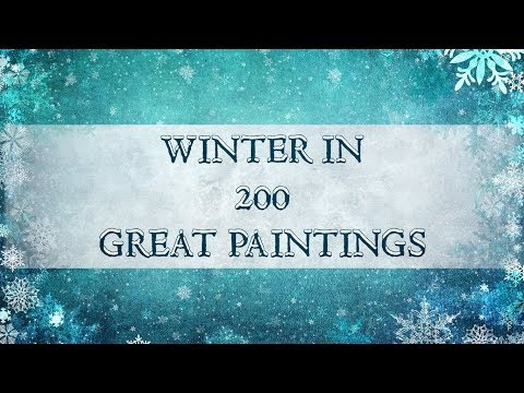 Winter in 200 Great Paintings | Merry Christmas ! (HD)