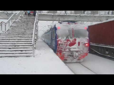 Электропоезд ЭД4М-0401 РЭКС станция Кубинка-1 4.02.2018