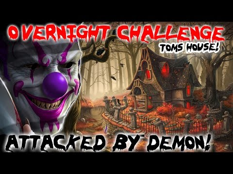 (ATTACKED) 24 HOUR OVERNIGHT CHALLENGE IN HAUNTED DEMONIC HOUSE GONE WRONG // ATTACKED ON CAMERA!